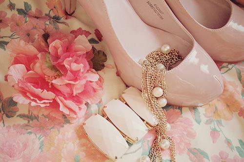 escarpins roses girly