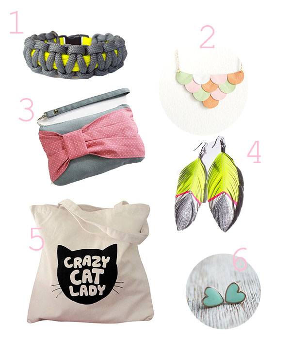 etsy sélection accessoires girly