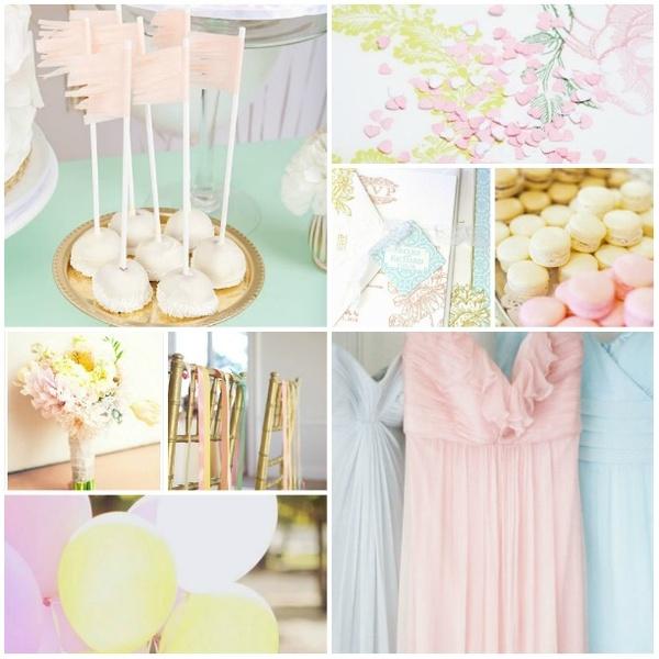 fête couleurs pastels
