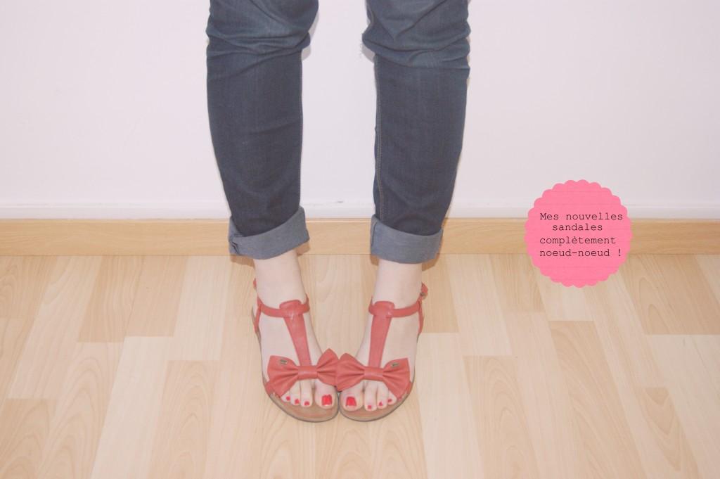 sandales noeud esprit