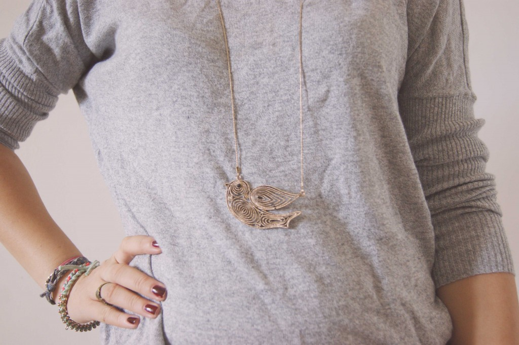 collier oiseau new look