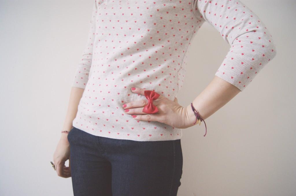 bague noeud poupée rousse