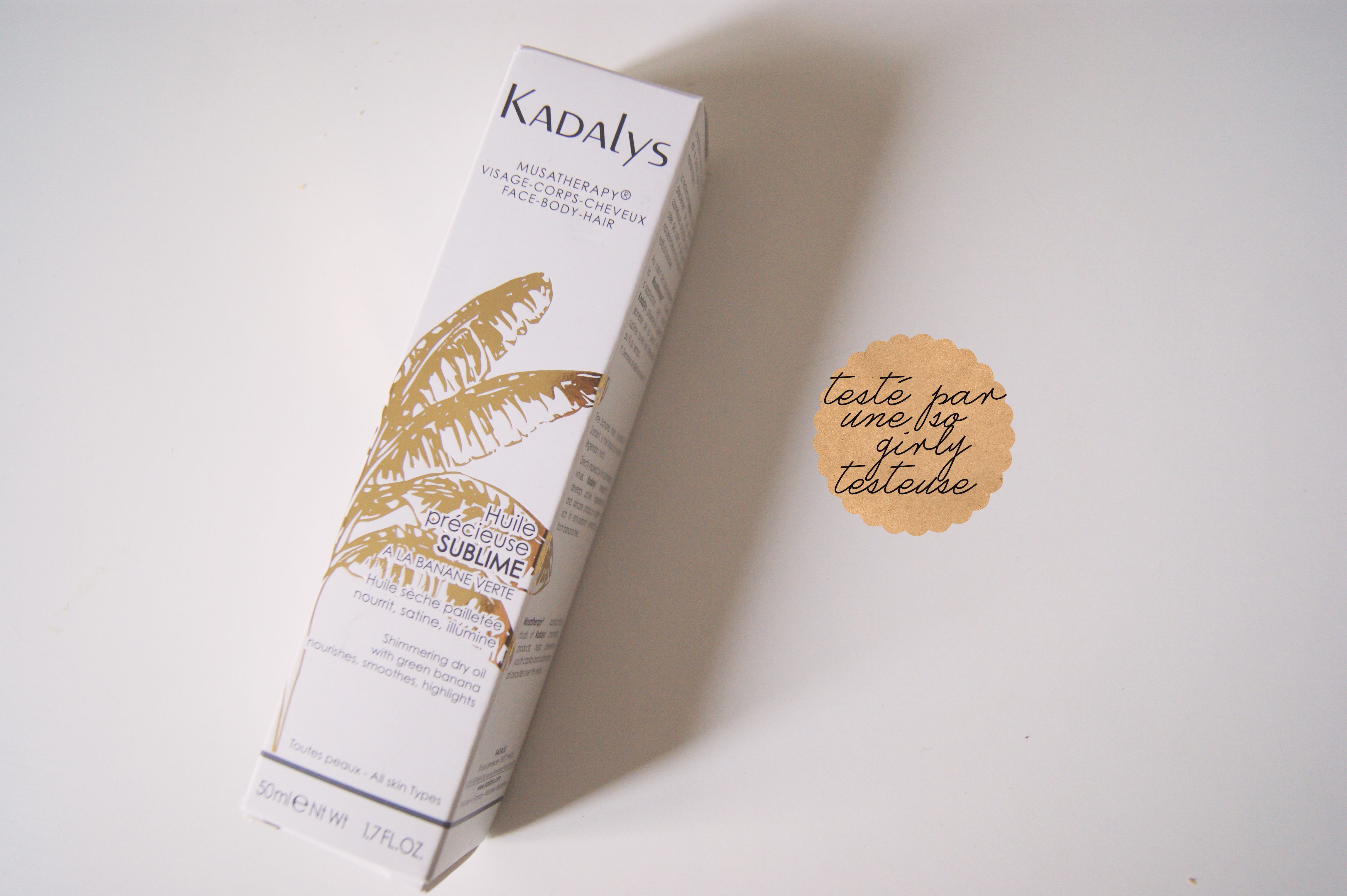 huile précieuse à la banane kadalys