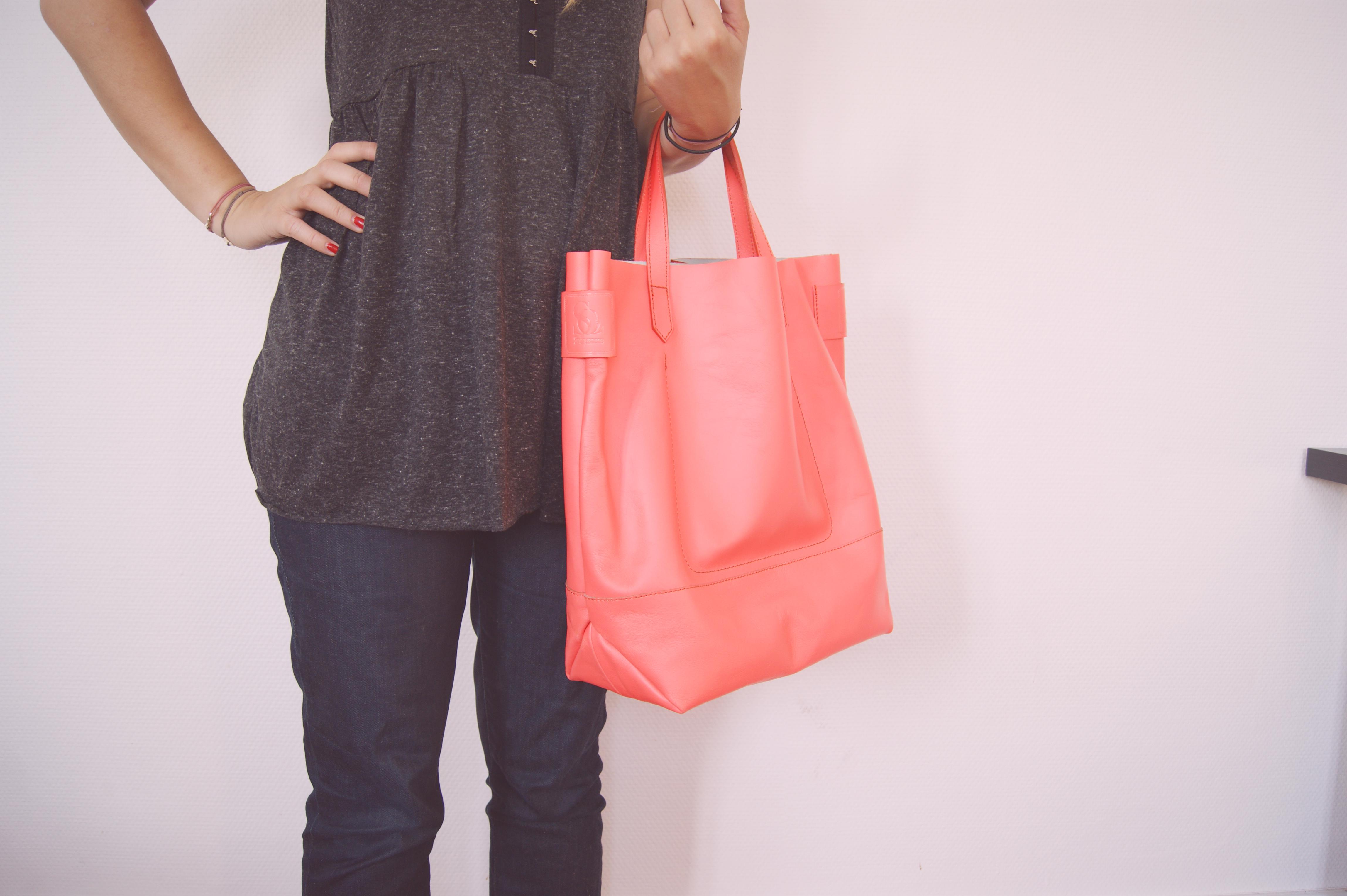 sac cuir neon sinequanone