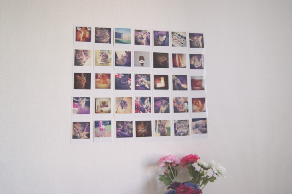 Ma d co girly les petits nouveaux le so girly blog - Mur photo polaroid ...