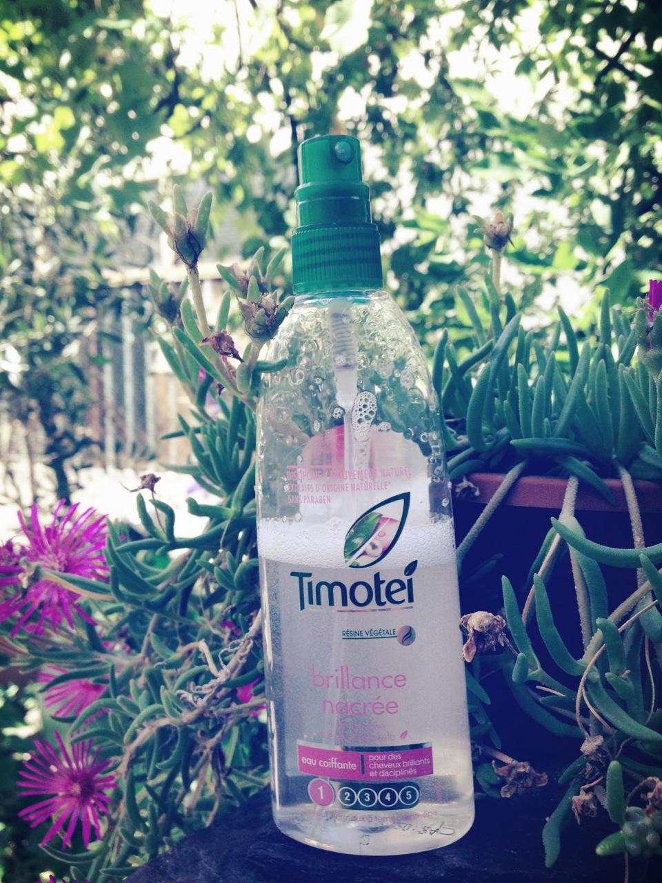 eau brillance nacrée timotei