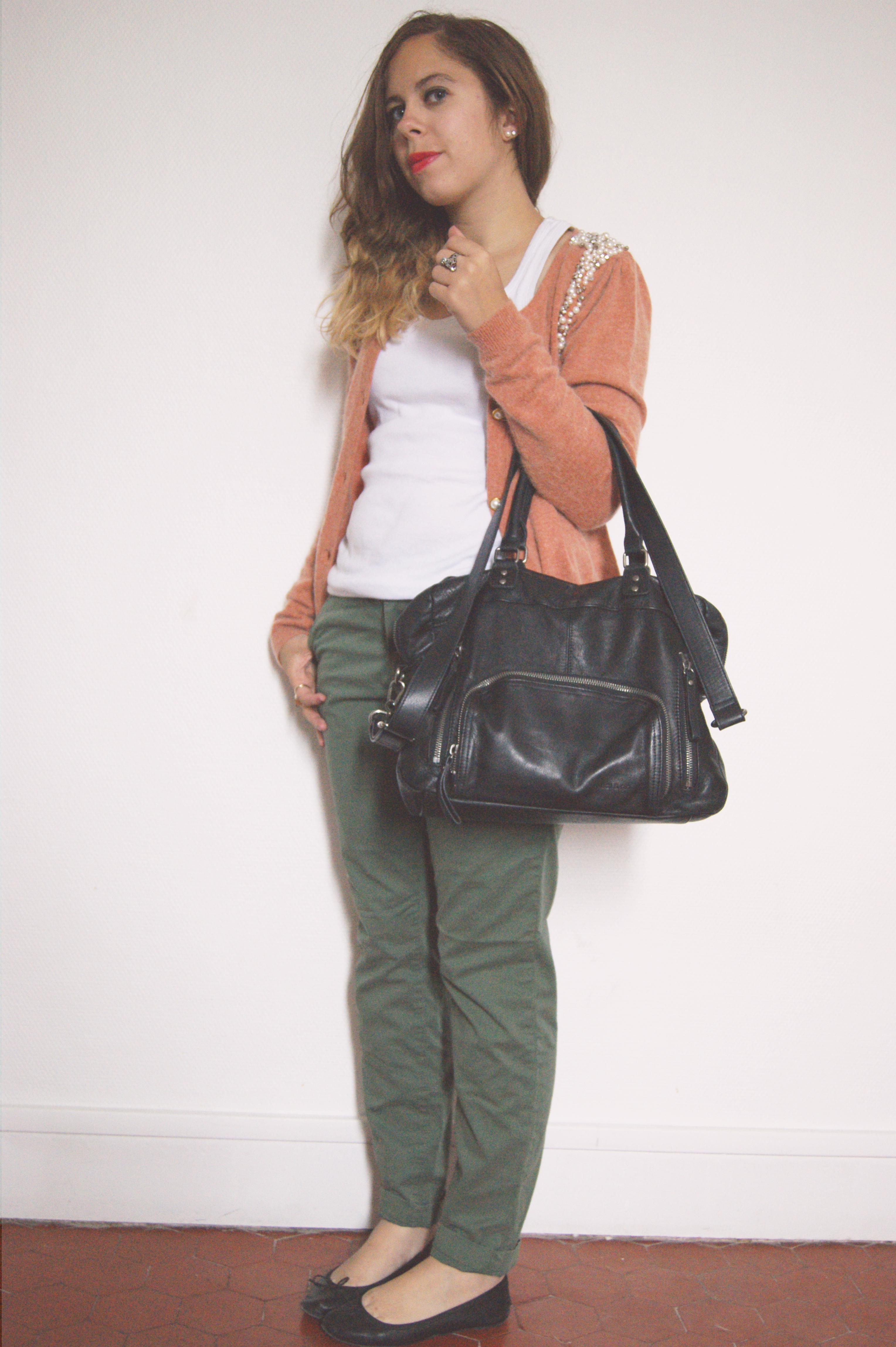 Pumpkin le so girly blog - Que porter avec un pantalon bleu marine ...