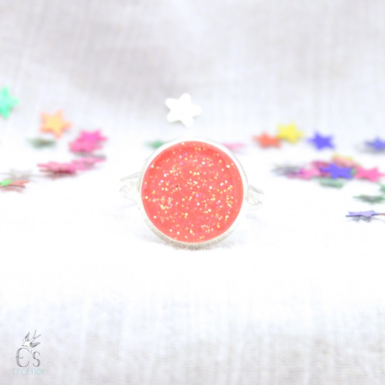 bague sparkle rose fluo
