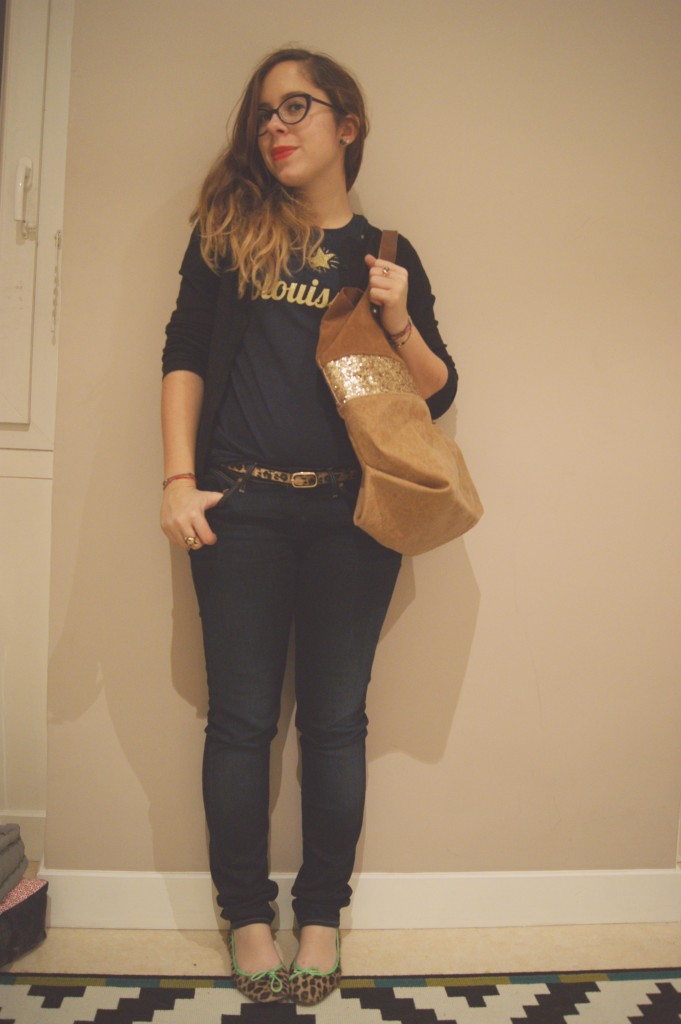 look paillettes casual
