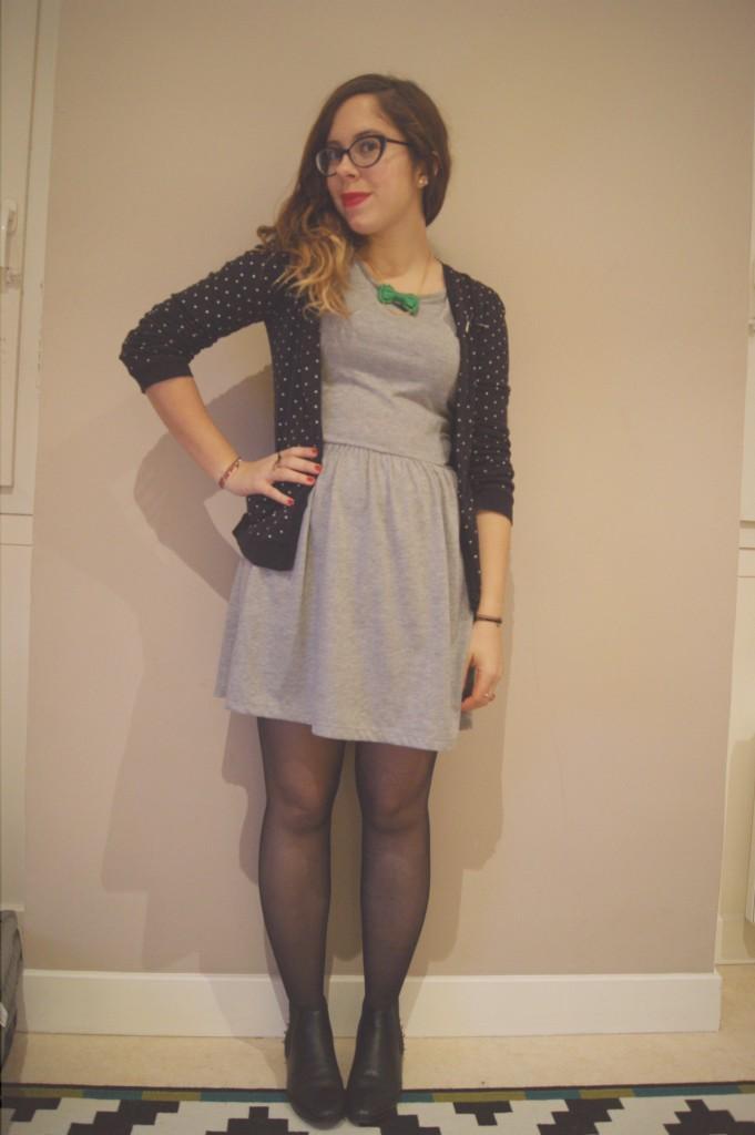 look petite robe grise