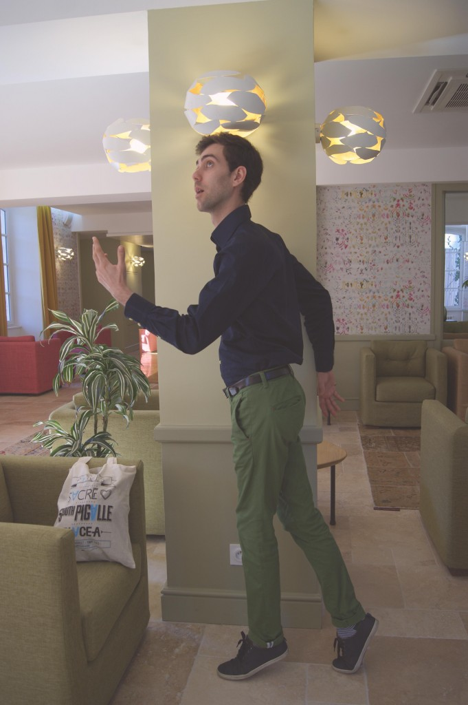 look homme pantalon vert