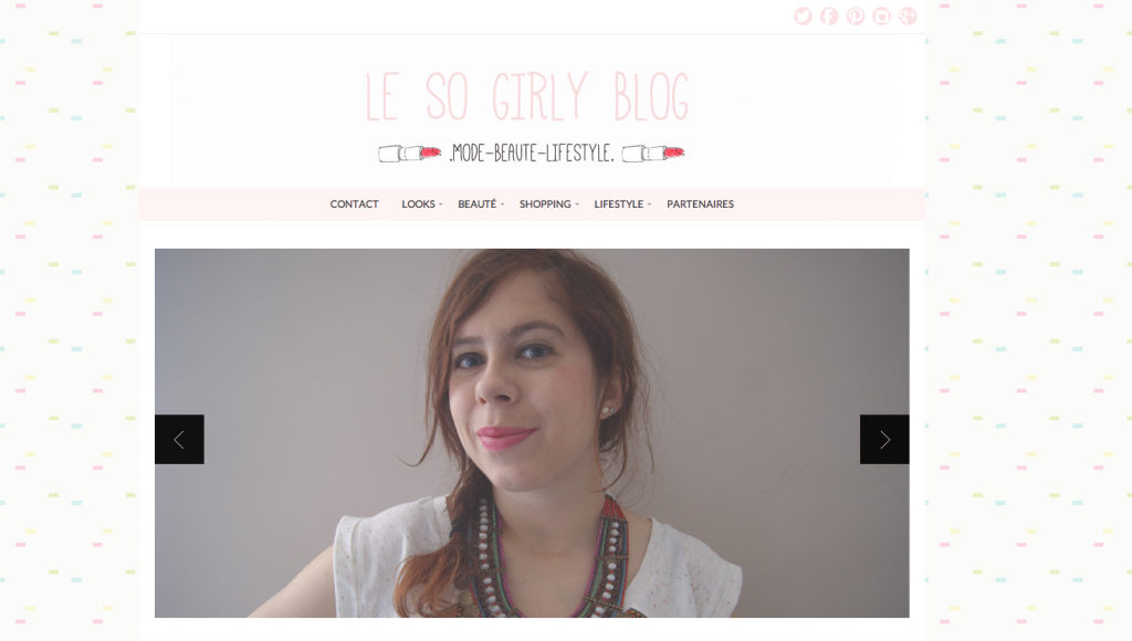 so girly blog nouvelle version