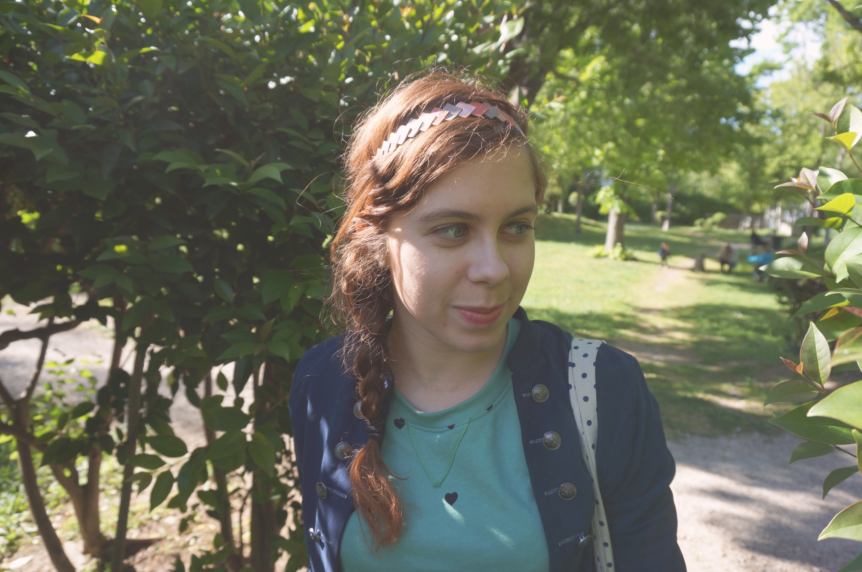 headband cuir lucky rosetta