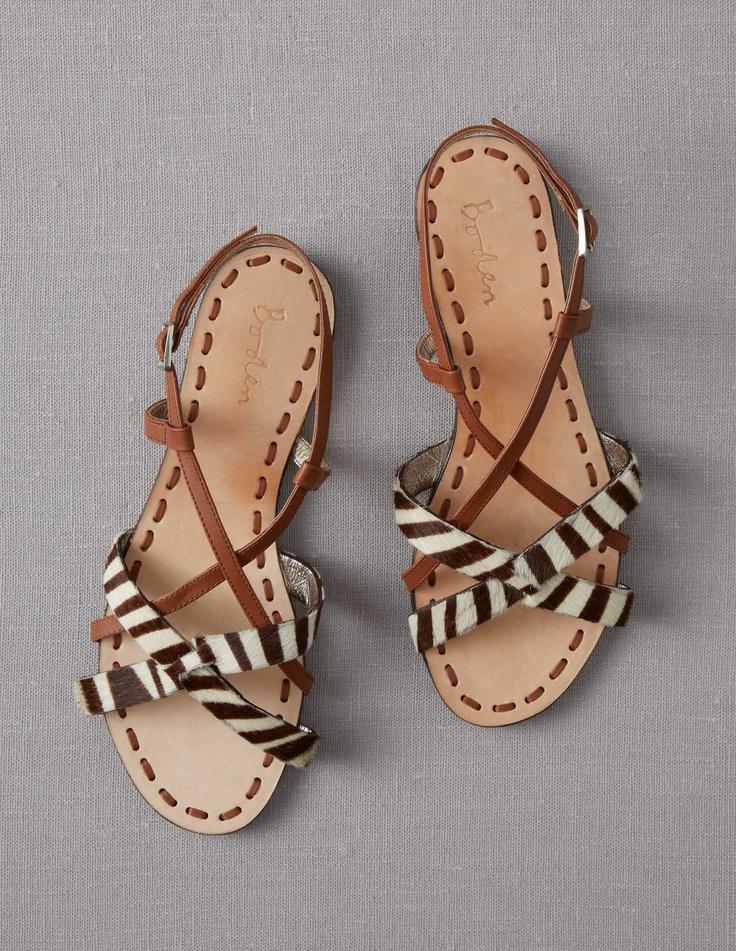 sandales zebrées