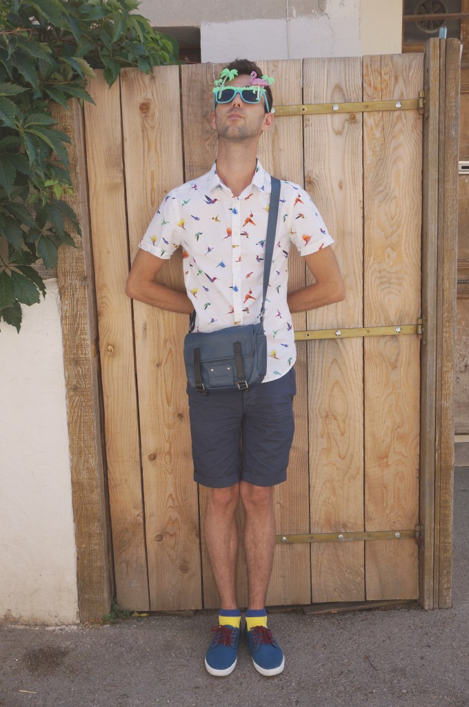 look homme chemise courte