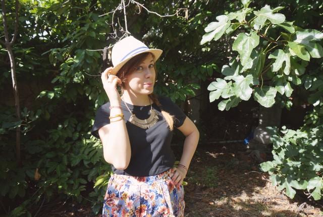 look estival jupe à fleurs