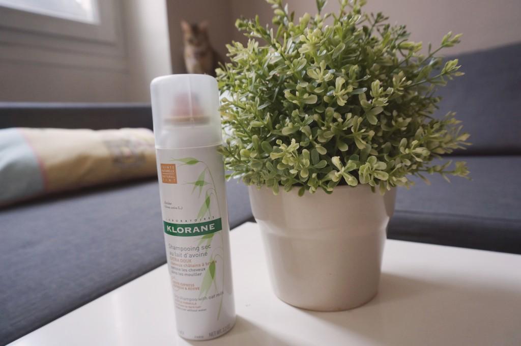 shampoing sec klorane lait d'avoine