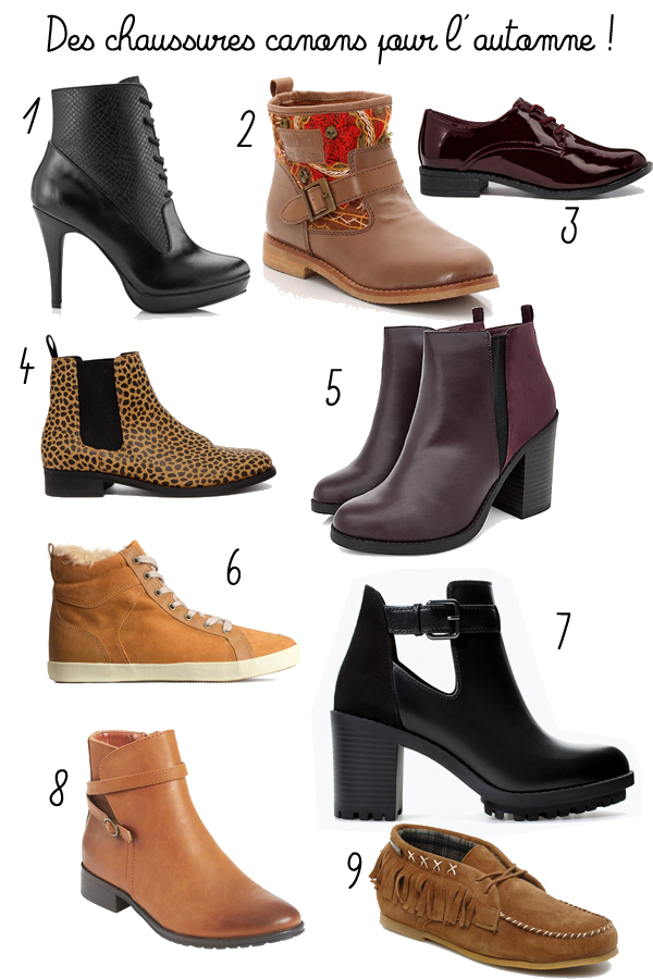 chaussures automne