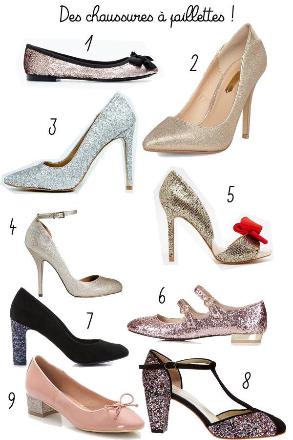 vite une paire de chaussures paillettes le so girly blog. Black Bedroom Furniture Sets. Home Design Ideas