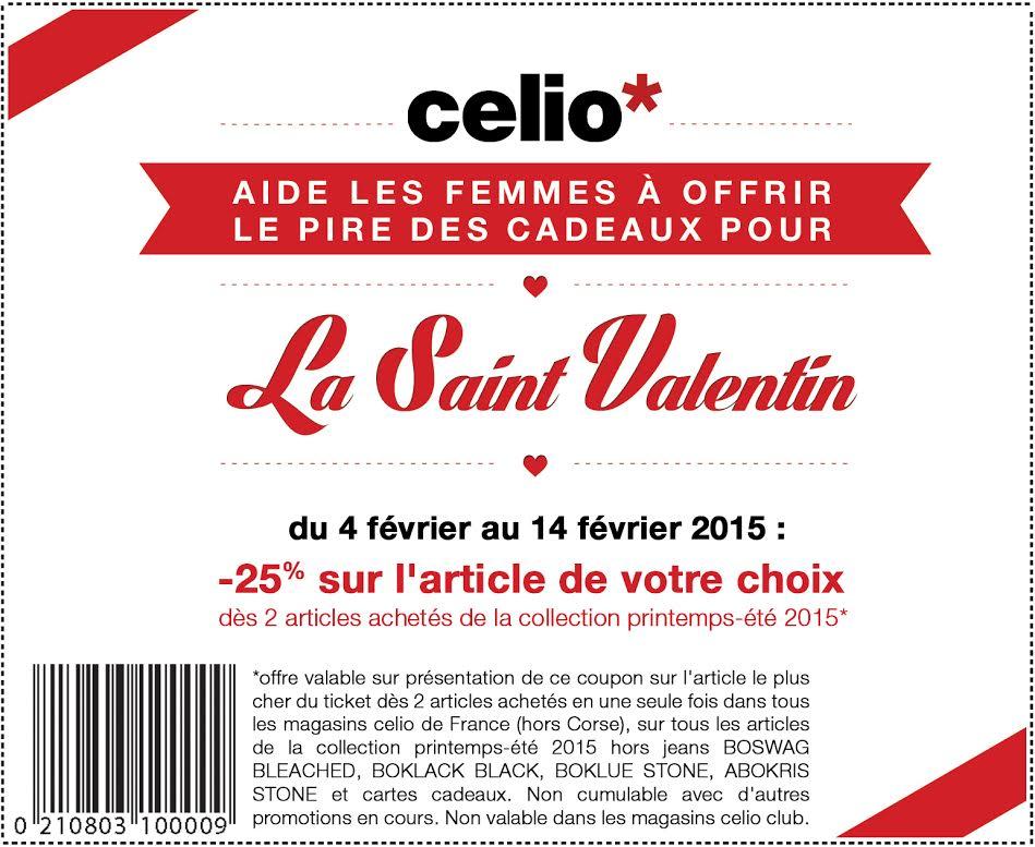 Celio pi ge les hommes pour la saint valentin le so - Emballage cadeau saint valentin ...