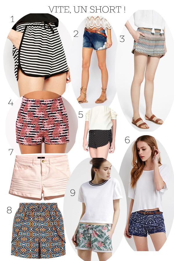 shorts petit prix