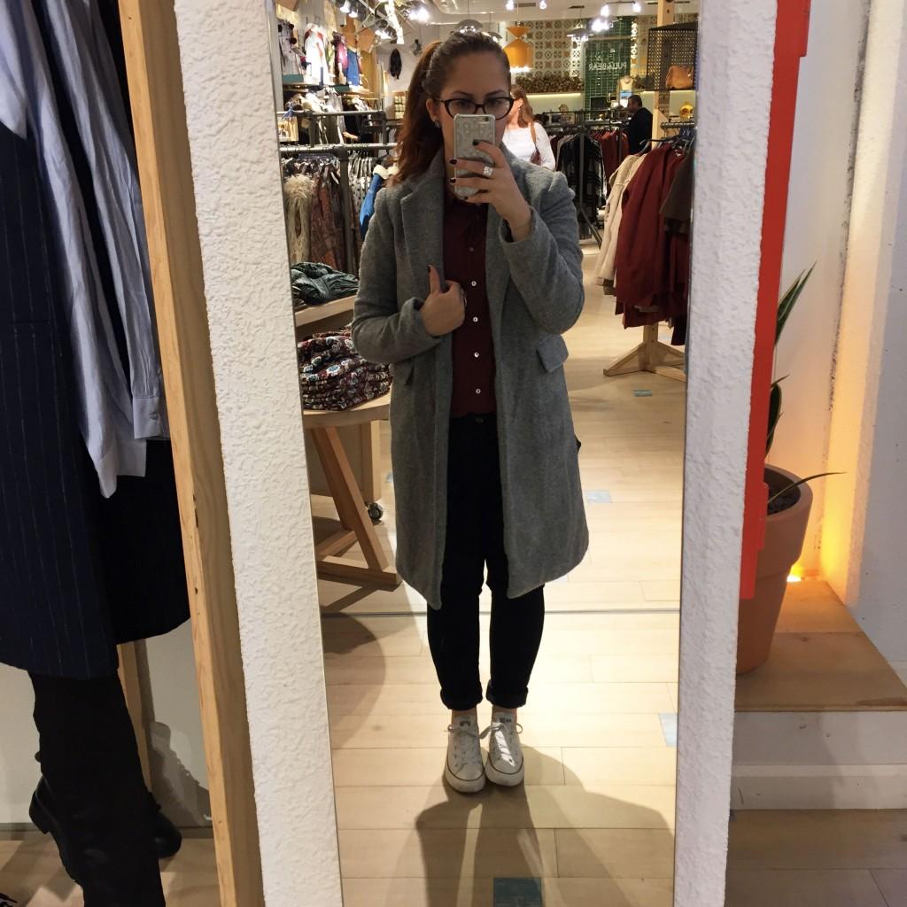 manteau tweed