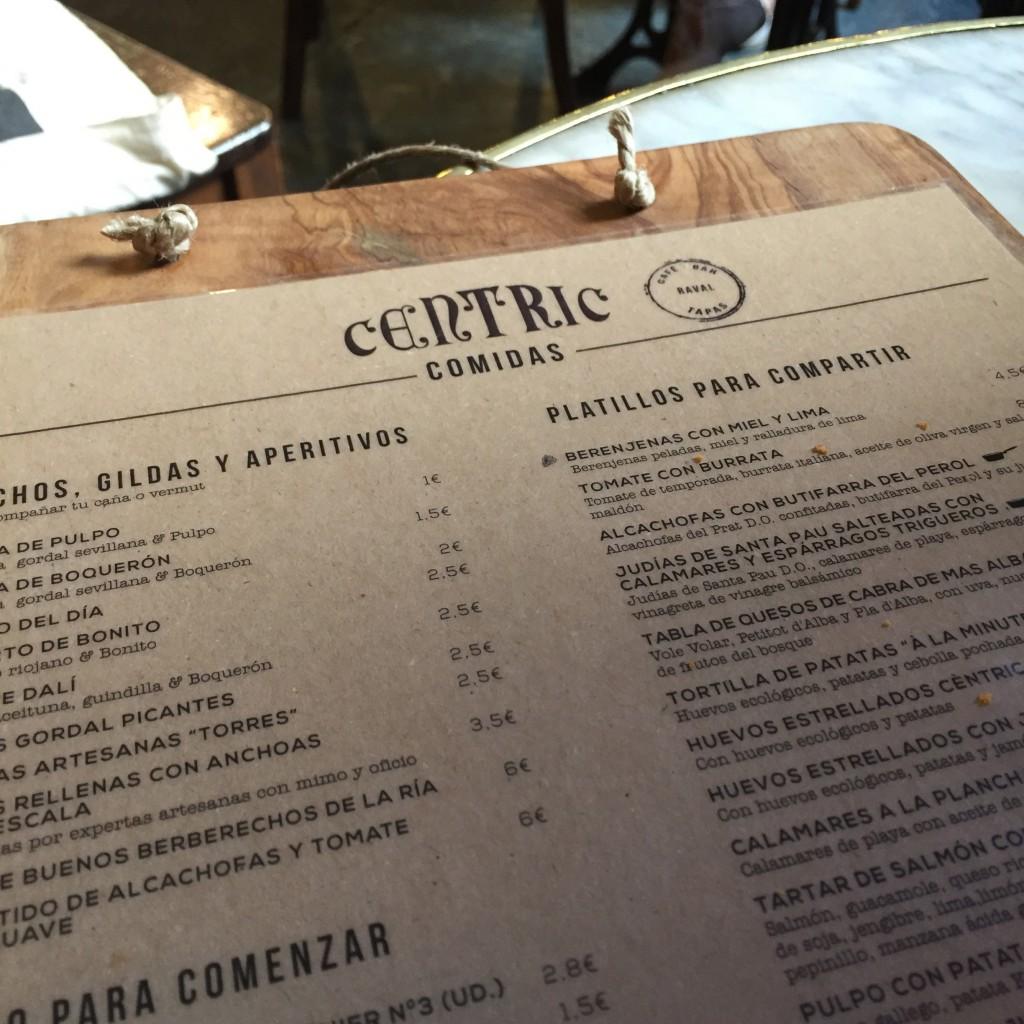 centric bar à tapas barcelone