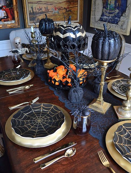 table déco halloween