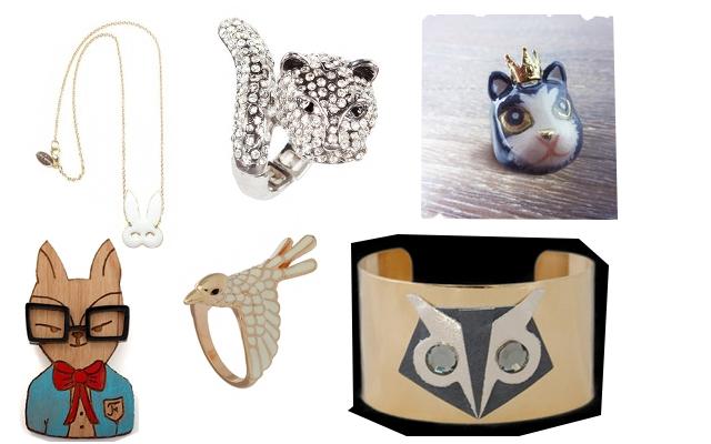 Des bijoux animaux
