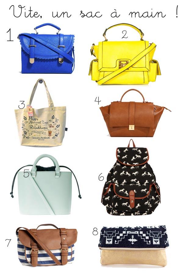 E-shopping de la semaine spécial sacs à main