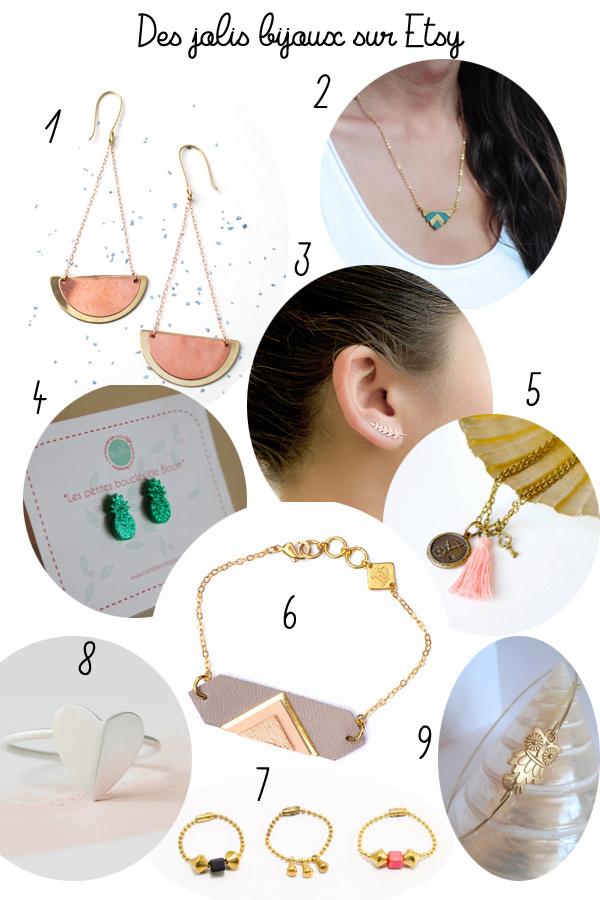 Des bijoux à petit prix chez Etsy