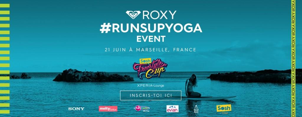 Gagne ta place pour le Roxy #RUNSUPYOGA Marseille !