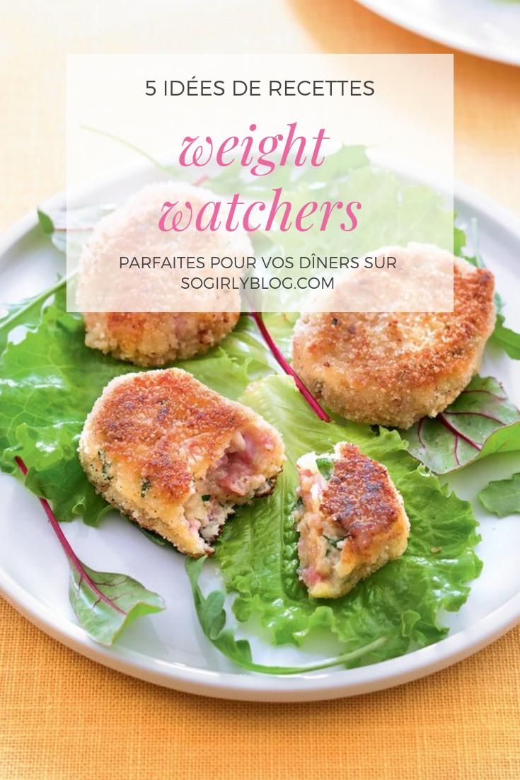 5 idées de diner weight watchers
