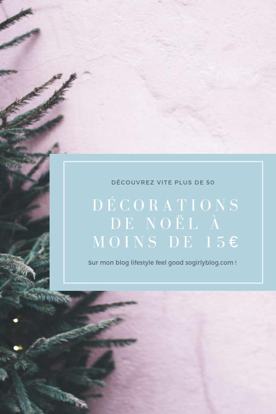 décorations de noël à moins de 15€