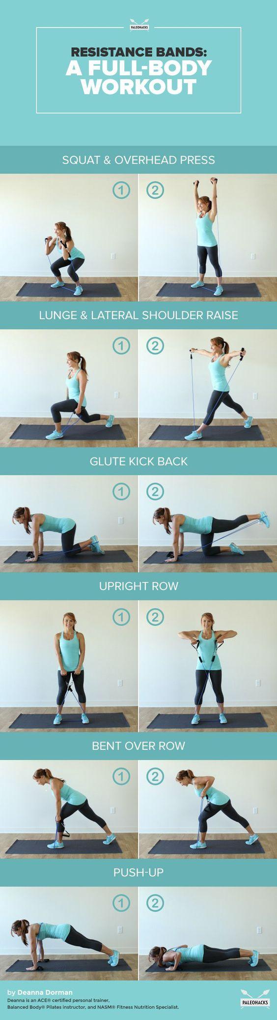 exercices elastiques à la maison