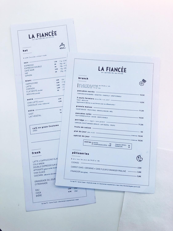 menu la fiancée marseille