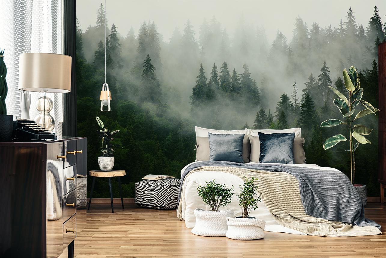 papier peint paysage forêt myloview