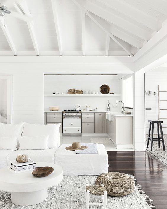 salon blanc minimaliste