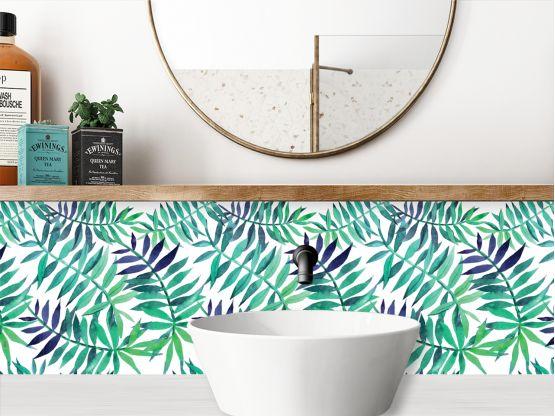 crédence adhésive salle de bains en location