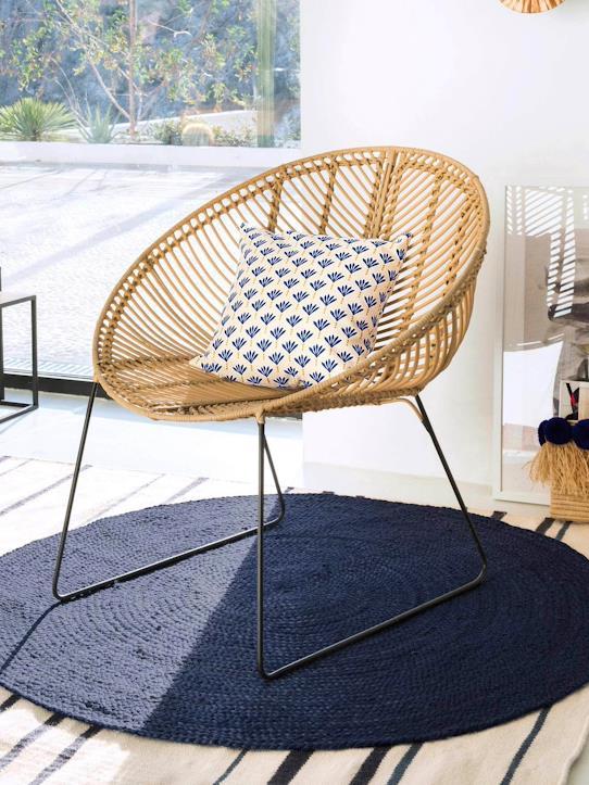 fauteuil en rotin et métal déco boho cyrillus