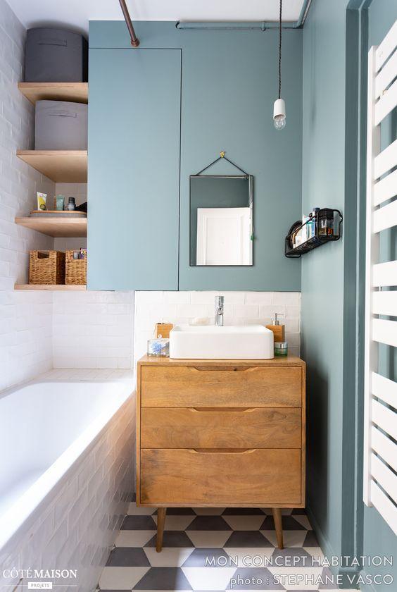 rangements salle de bains