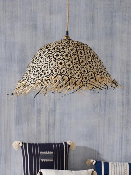 suspension tressée en bambou déco boho cyrillus