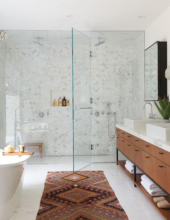 tapis salle de bain boheme