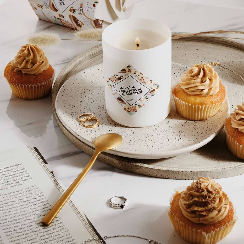 bougie automne cupcake noisette
