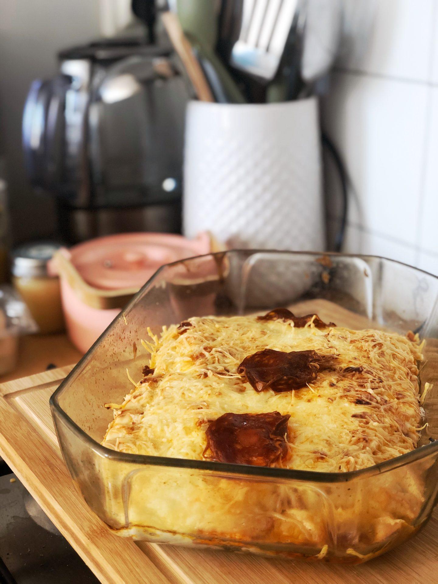 gratin ravioles chorizo