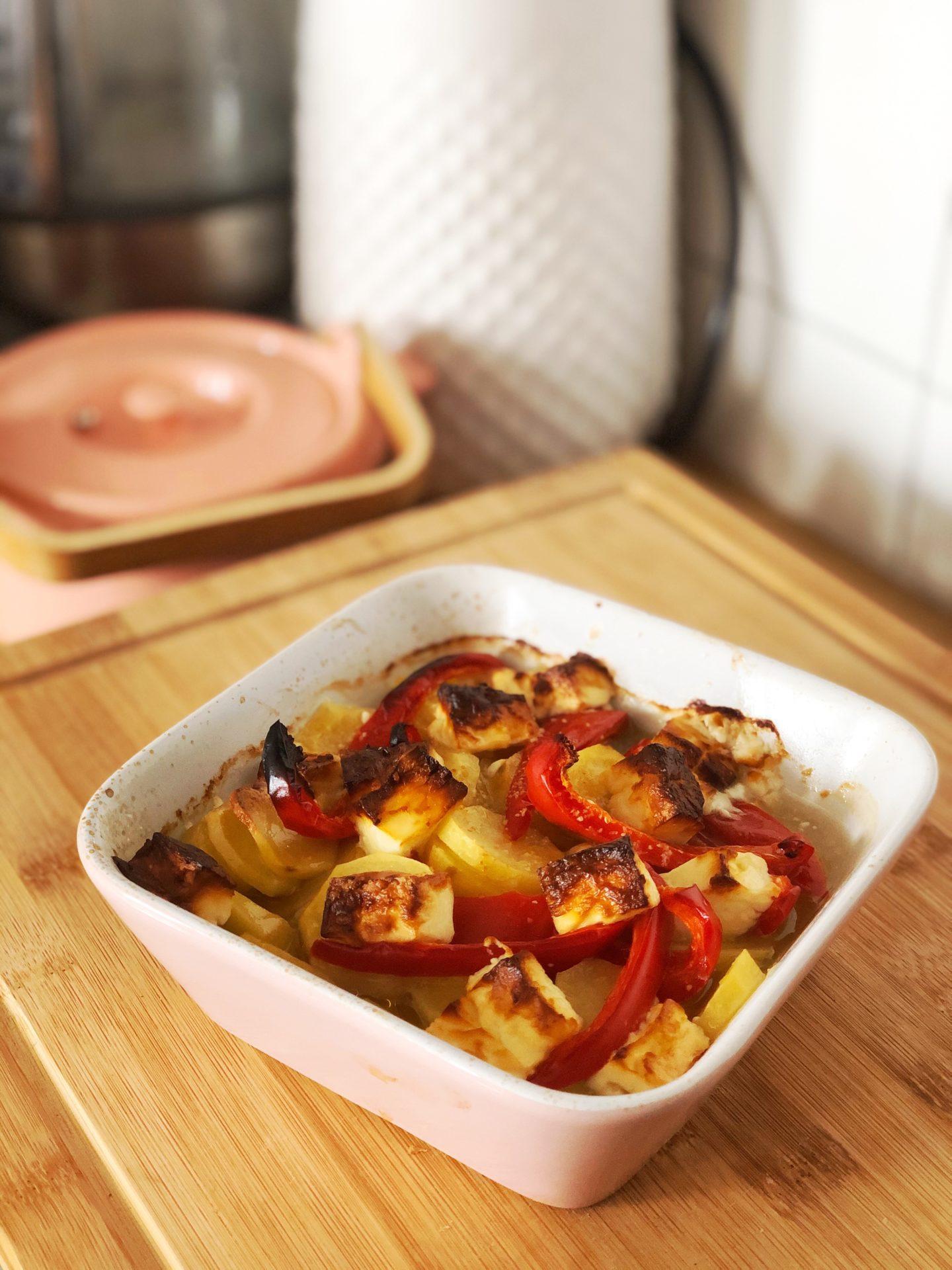 gratin pommes de terre poivrons fêta
