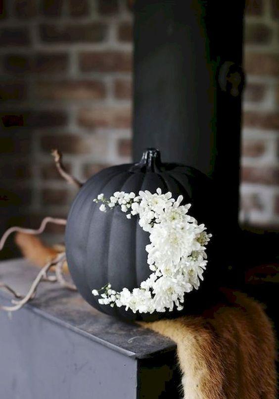citrouille noire halloween