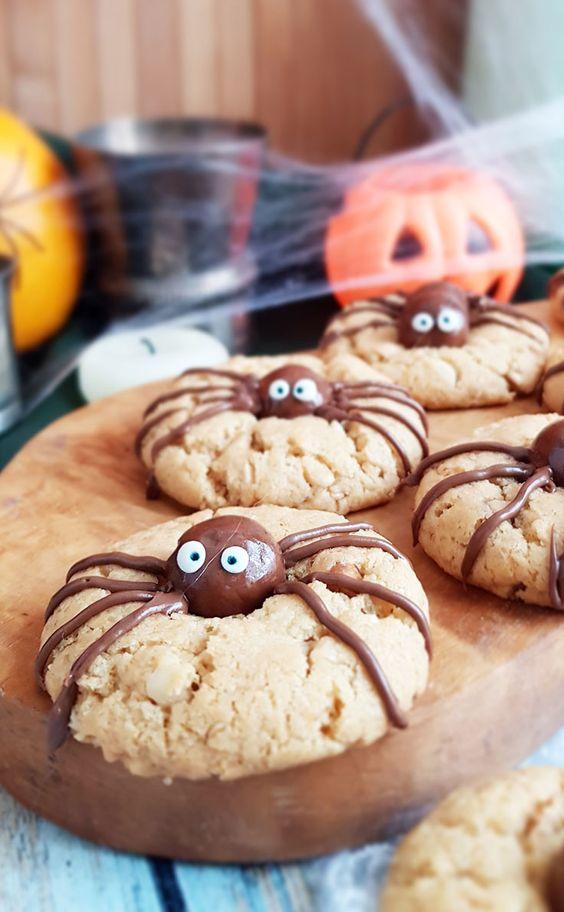 spider cookies recettes halloween